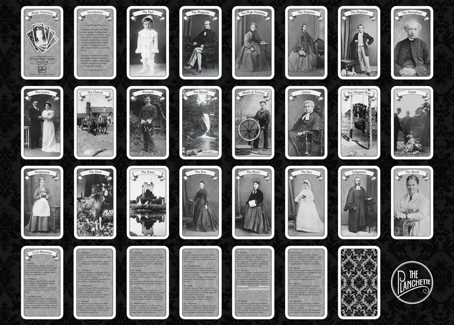 major victoriana 22 card major arcana tarot deck custom made victorian tarot ebay. Black Bedroom Furniture Sets. Home Design Ideas