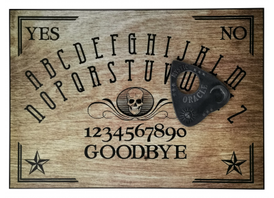 Wood-Effect Skull Ouija Board
